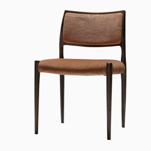 Palisander Esszimmerstühle von Niels Moller, 1960er, 5er Set