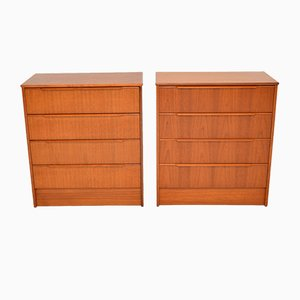 Danish Teak Chest of Drawers, 1960s, Set of 2