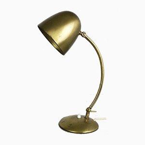 Moderne deutsche Mid-Century Messing & Metall Tischlampe von Cosack