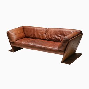 Belgian Leather Sofa from Durlet, 1970s