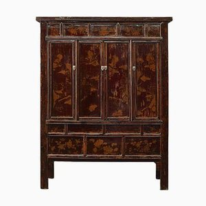 Large Shanxi-Painted Pine Armoire, 1920s