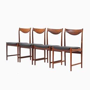 Skandinavische Palisander Darby Esszimmerstühle von Torbjørn Afdal für Nesjestranda Møbelfabrik, 1960er, 4er Set