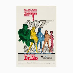 Dr. No Movie Poster by Mitchell Hooks, 1962