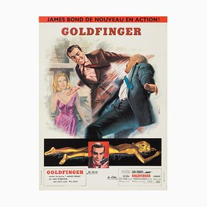 Goldfinger Movie Poster by Jean Mascii, 1960s