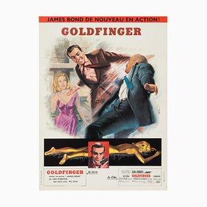 Póster de la película Goldfinger de Jean Mascii, años 60