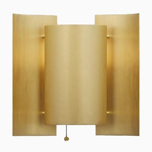 Vintage Brushed Brass Butterfly Sconce by Sven Ivar Dysthe for Northern Lighting