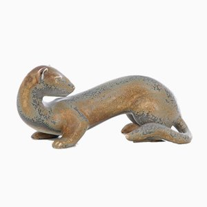 Mid-Century Modern Scandinavian Ceramic Ferret by Gunnar Nylund for Rörstrand