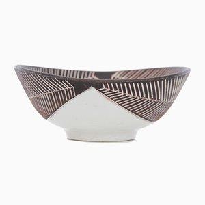 Skandinavische Mid-Century Modern Keramikschale, 1960er