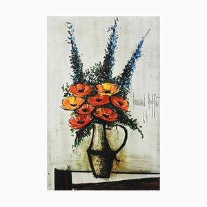 Lithographie Les Pavots par Bernard Buffet, 1960s