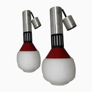 Deckenlampen von Stilnovo, 1950er, 2er Set