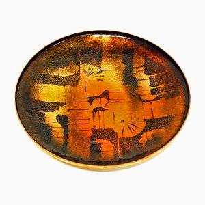 Norwegian Enamel Copper Dish from Drangsgaard, 1960s