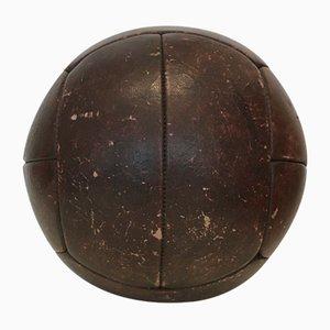 Vintage 4kg Medizinball aus Leder, 1930er