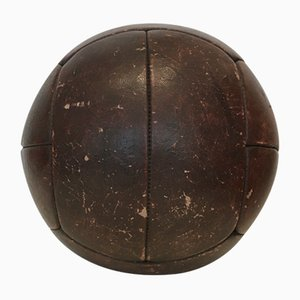 Vintage Leather 4kg Medicine Ball, 1930s