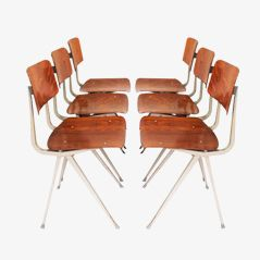 Pag-Wood Result Chairs by Friso Kramer for Ahrend de Cirkel, 1970s