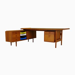 Mid-Century Danish Teak Desk and Sideboard by Arne Vodder for Sibast