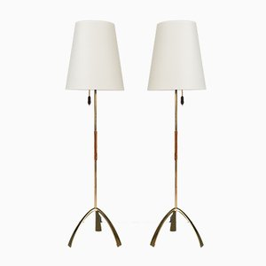 Model 2105 Silone Floor Lamps by J. T. Kalmar, 1950s, Set of 2