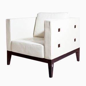 Italienische Vintage Cubo Stühle von Aldo Tura, 1980er, 2er Set