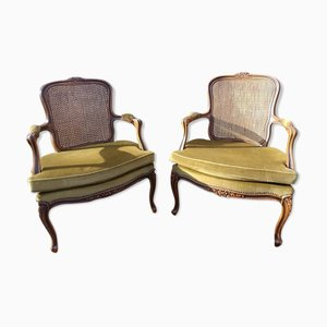 Louis XV Style Cabriolet Armchairs, Set of 2