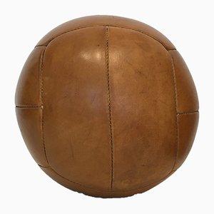 Vintage Leather 4kg Medicine Ball, 1930s