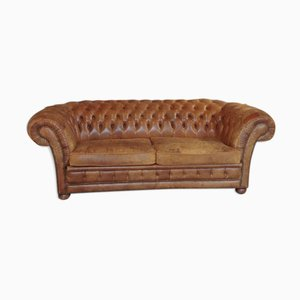 Antikes 3-Sitzer Chesterfield Sofa