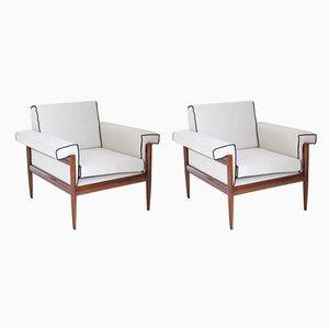 Mid-Century Italian Lounge Chairs from Trafalisa Isa Bergamo, Set of 2