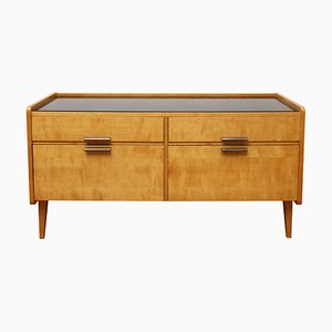 Maple & Glass Dresser, 1950s