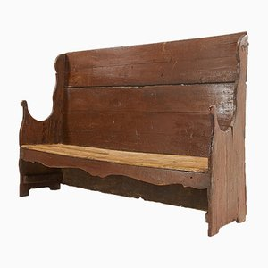 Antique Primitive Catalan Bench