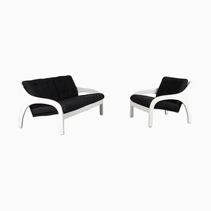 Italian Model Vivalda Sofa and Lounge Chair Set from Sormani, 1960s