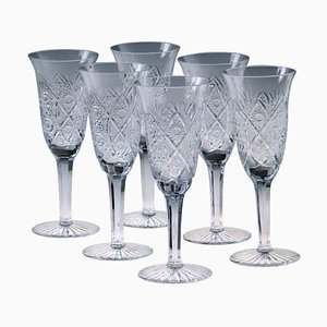 Czech Crystal Drinking Set by Moser, 1960s, Set of 24