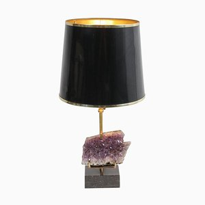 Amethyst Table Lamp in the Style of Willy Daro, 1970s