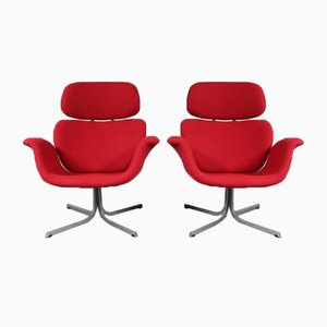 Big Tulip Lounge Chairs by Pierre Paulin, 1950s, Set of 2