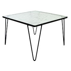 Glass and Metal Coffee Table by Arnold Bueno de Mesquita for Goed Wonen, 1955