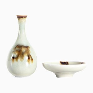 Assiette et Vase Miniature Vintage en C