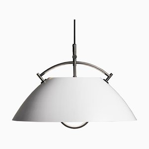 Mid-Century Scandinavian White L037 Pendant Lamp by Hans J. Wegner for Pandul