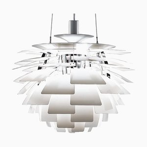 Mid-Century Scandinavian White PH Artichoke Pendant Lamp by Poul Henningsen for Louis Poulsen