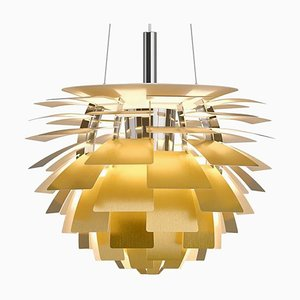 Mid-Century Scandinavian Brass PH Artichoke Pendant Lamp by Poul Henningsen for Louis Poulsen