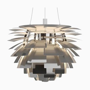 Mid-Century Scandinavian Polished Stainless Steel PH Artichoke Pendant Lamp by Poul Henningsen for Louis Poulsen