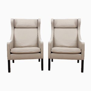 Mid-Century Modern 2204 Wing Chairs by Børge Mogensen for Fredericia, Set of 2