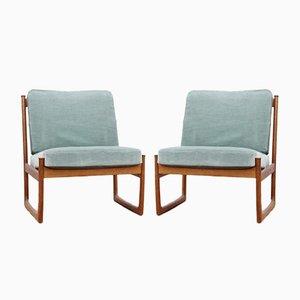 Mid-Century Modern Scandinavian Model 130 Lounge Chairs by Peter & Orla Hvidt & Mølgaard-Nielsen for France & Søn, Set of 2