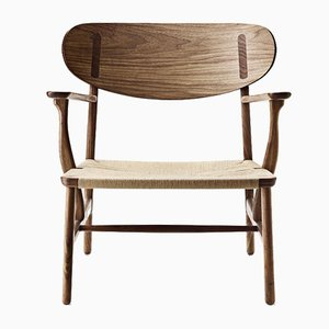 Fauteuil Modèle CH 22 Mid-Century Moderne par Hans J. Wegner pour Carl Hansen & Søn, Scandinavie