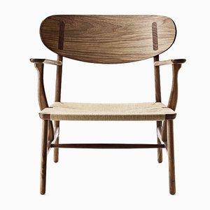 Skandinavischer Mid-Century Modern Modell CH 22 Armlehnstuhl von Hans J. Wegner für Carl Hansen & Søn
