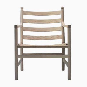 Mid-Century Modern Scandinavian Model CH 44 Armchair by Hans J. Wegner for Carl Hansen & Søn