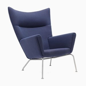 Mid-Century Modern Scandinavian Model CH 445 Armchair by Hans J. Wegner for Carl Hansen & Søn
