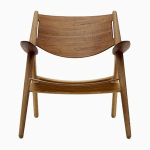 Mid-Century Modern Scandinavian Model CH 28T Armchair by Hans J. Wegner for Carl Hansen & Søn