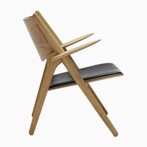 Mid-Century Modern Scandinavian Model CH 28P Armchair by Hans J. Wegner for Carl Hansen & Søn