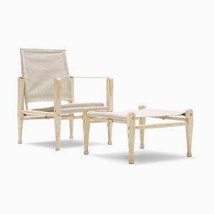 Skandinavischer Mid-Century Modern KK47000 Safari Chair von Kaare Klint für Carl Hansen & Søn