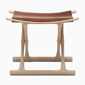 Mid-Century Scandinavian Model OW2000 Egyptian Folding Stool by Ole Wanscher for Carl Hansen & Søn