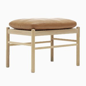 Mid-Century Scandinavian Model OW149F Colonial Footstool by Ole Wanscher for Carl Hansen & Søn