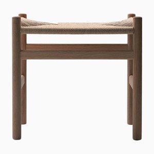 Mid-Century Scandinavian Model CH53 Footstool by Hans J. Wegner for Carl Hansen & Søn