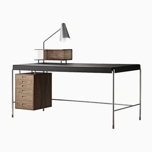 Mid-Century Scandinavian Model AJ52 Society Table by Arne Jacobsen for Carl Hansen & Søn